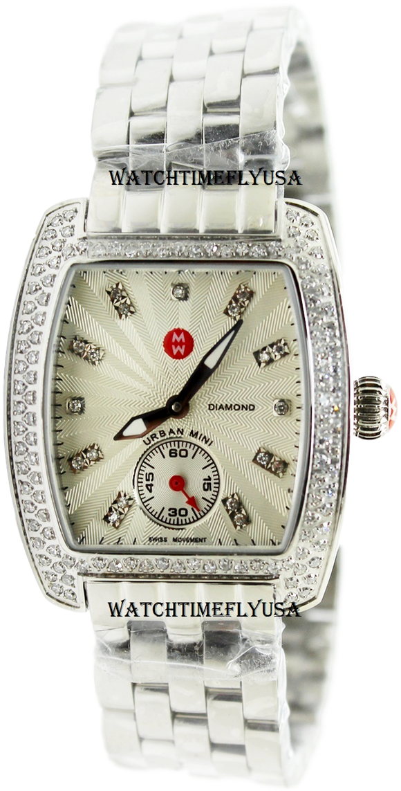 MICHELE Mini Urban Silver Diamond Dial Ladies Watch MWW02A000508