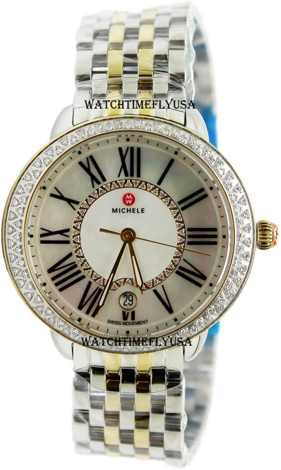 MICHELE Serein Mid Two-Tone Diamond Watch MWW21B000032