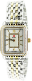 MICHELE Deco II Mid-size Diamond Two-tone, Diamond Dial Watch MWW06I000004