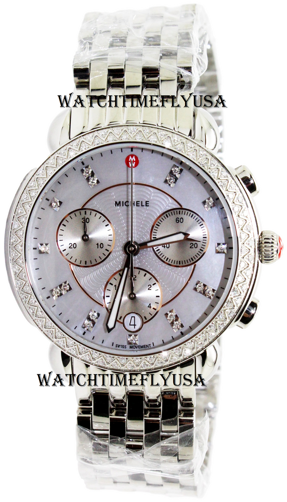 MICHELE Sidney Stainless-Steel Diamond Watch MWW30A000028