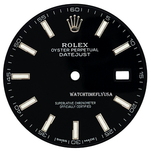 Rolex Oyster Perpetual Datejust 41 Black Stick/Index Dial For 126334 & 126300