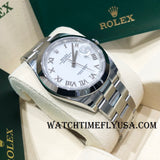 Rolex 126300 Datejust 41 White Roman Oyster Stainless Steel