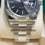 Rolex 126334 Datejust 41 Grey Index/Stick Oyster Stainless Steel