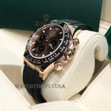 Rolex 116515 Daytona Rose Gold Chocolate Index Dial Oysterflex Rubber