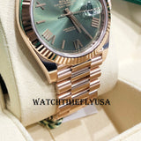Rolex 228235 Day-Date 40 Olive Green Dial Rose Gold 40mm President