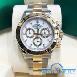 Rolex Daytona 116503 White Index Dial Two Tone Yellow