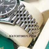 Rolex 126334 Datejust 41 Black Index/Stick Jubilee Stainless Steel