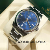Rolex Oyster Perpetual 39mm 114300 Stainless Steel 39mm Blue Dial