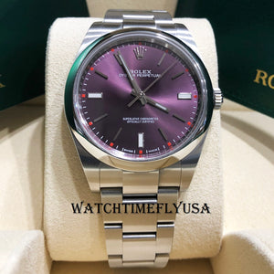 Rolex Oyster Perpetual 39 114300 Stainless Steel Purple Grape Dial