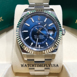Rolex Sky Dweller 326934 Blue Dial Oyster Perpetual 42mm Stainless Steel