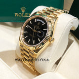 Rolex 228238 Day-Date 40 Yellow Gold President Black Motif Dial