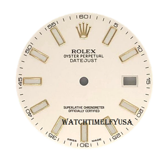 Rolex Oyster Perpetual Datejust II 41mm Watch Ivory Index Dial For 116333