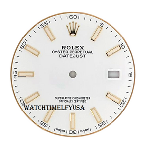 Rolex Oyster Perpetual Datejust 41 Watch White Index Dial For 126333 & 126303