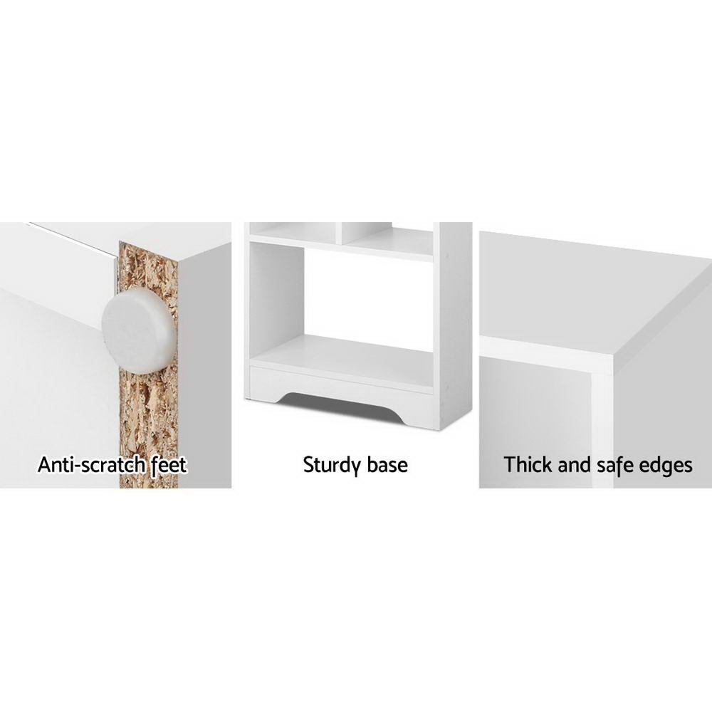Artiss Display Shelf Bookcase Storage Cabinet Bookshelf Bookcase Home Office White