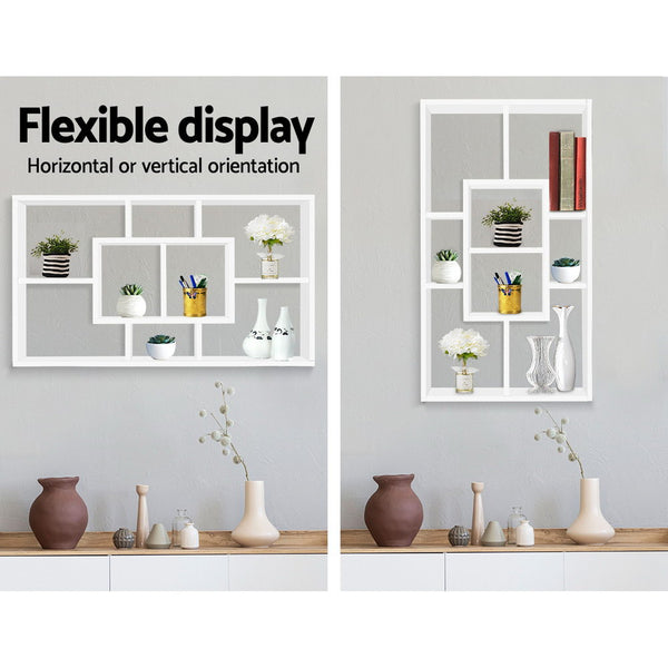 Artiss Floating Wall Shelf DIY Mount Storage Bookshelf Display Rack White