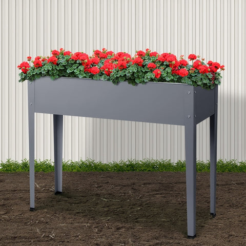 Greenfingers Garden Bed Galvanised Steel Raised Planter Standing Box