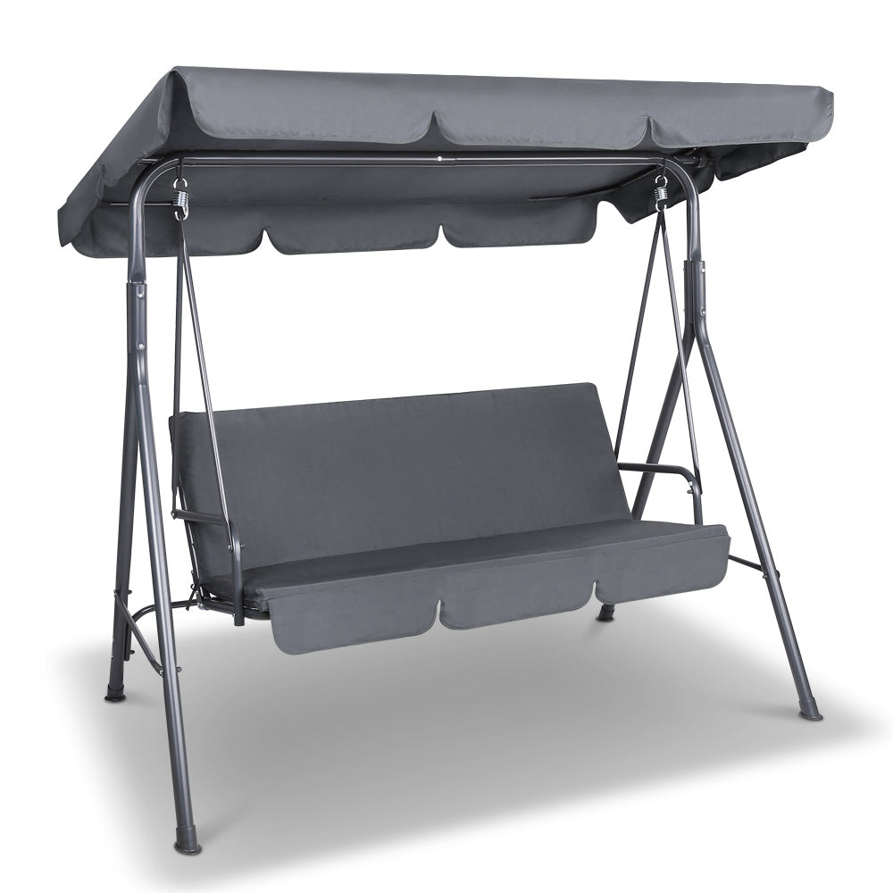 Gardeon Swing Chair with Canopy - Grey