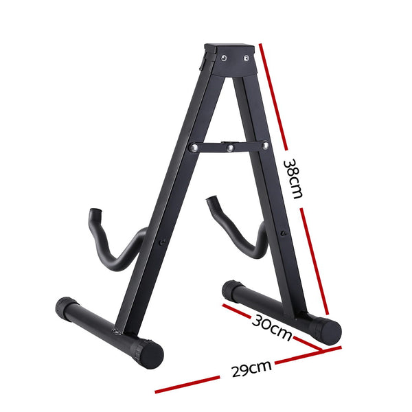 ALPHA Folding Acoustic Guitar Stand Bass Floor Rack Holder Accessories Pack