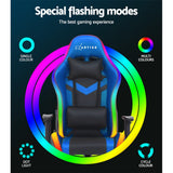 Artiss Gaming Office Chair RGB LED Lights Computer Desk Chair Home Work Chairs