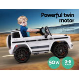 Mercedes-Benz Kids Ride On Car Electric AMG G63 Licensed Remote Cars 12V White
