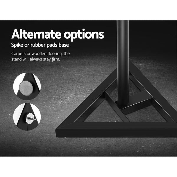 Two 120CM Surround Sound Speaker Stand - Black