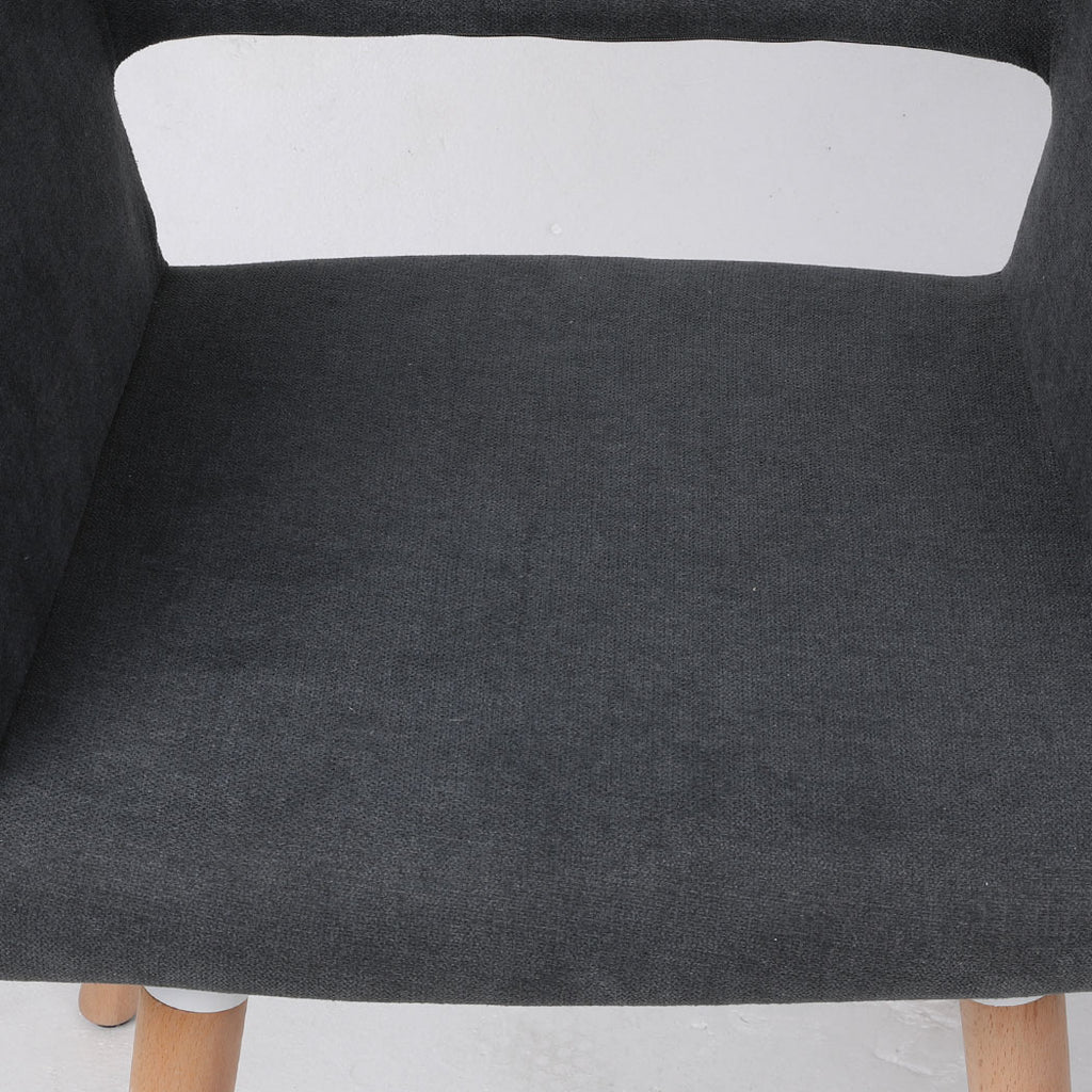 2x Dining Chairs Seat French Provincial Lounge Contemporary Chair Dark Grey