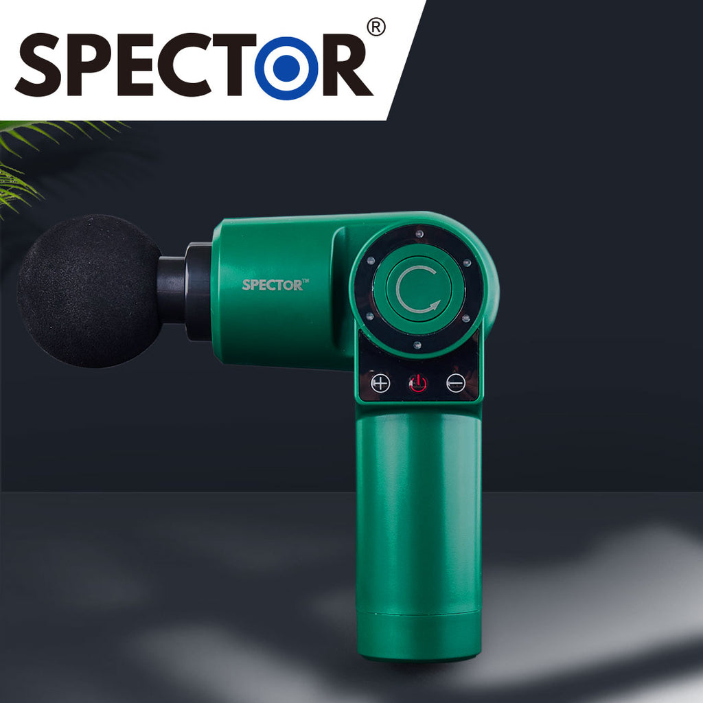 Spector Massage Gun 90°Rotatable Pocket Massager Tissue Muscle Percussion Green