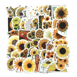 READY TO SHIP * SUNSHINE Sunflower Waterproof Vinyl Matte Stickers