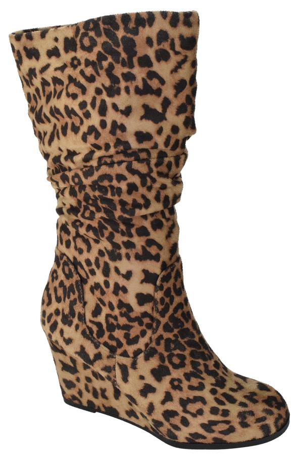 Soda Shoes Oblong Leopard Boots