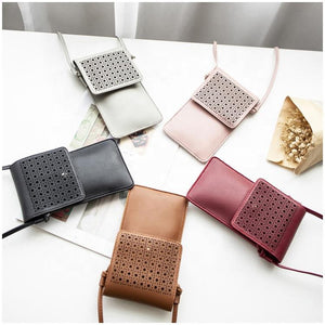 READY TO SHIP * Textured Cellphone Crossbody Purse Wallet