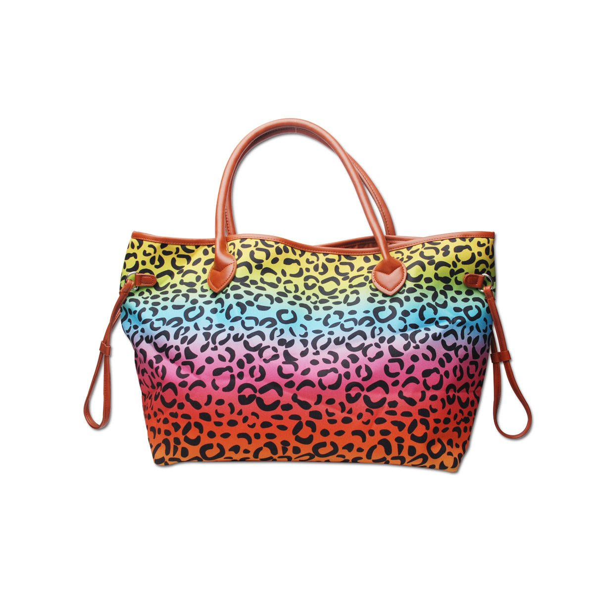 READY TO SHIP * Rainbow Leopard Tote
