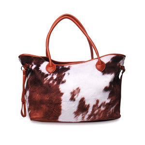 READY TO SHIP * Super Soft Faux Cowhide Tote