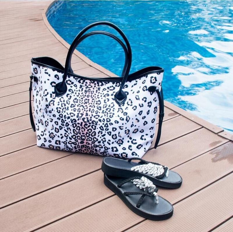 READY TO SHIP  * White Leopard Tote Limited Edition