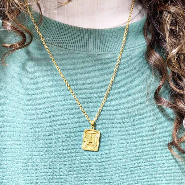 READY TO SHIP * Monogram Alphabet Necklace