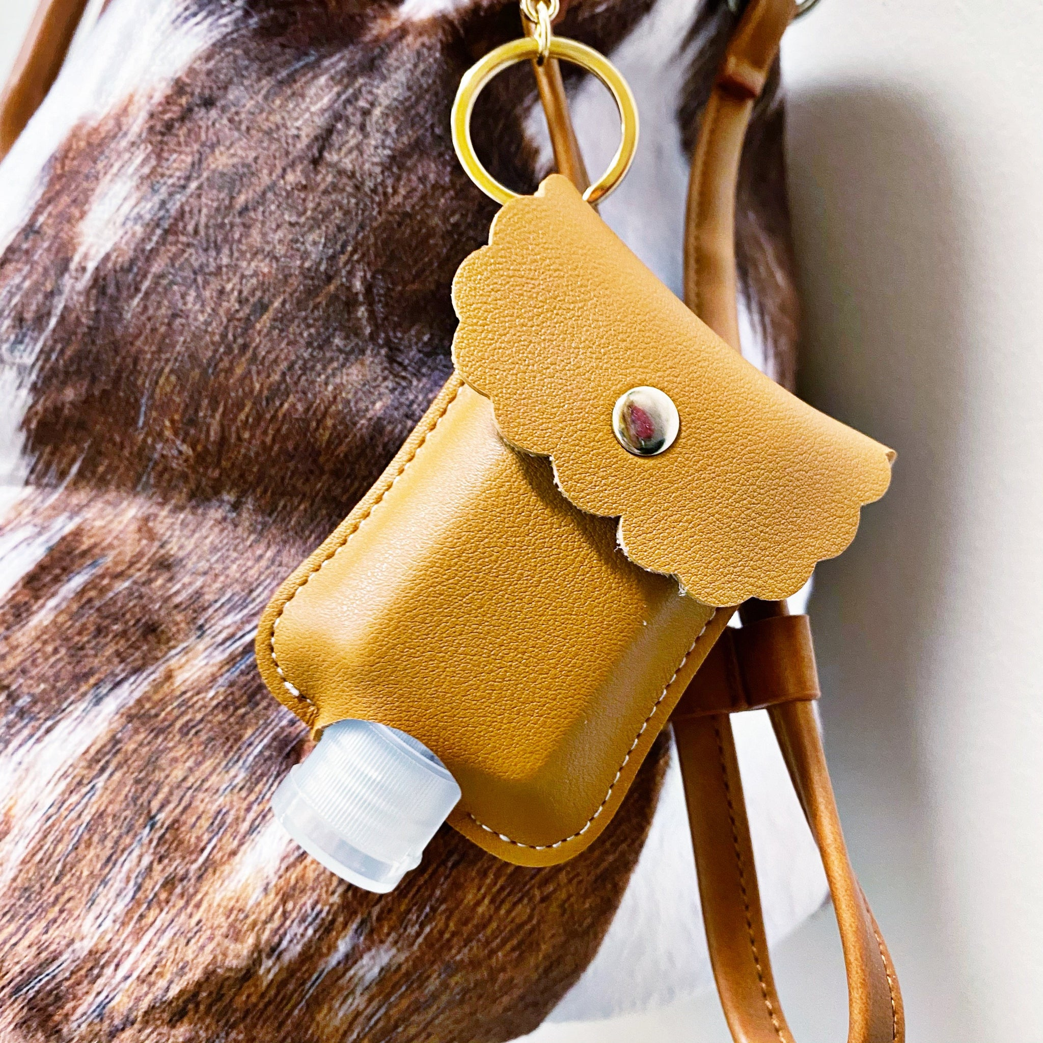 READY TO SHIP * Vegan Leather Hand Sanitizer Holders + Bottle // 5 Colors