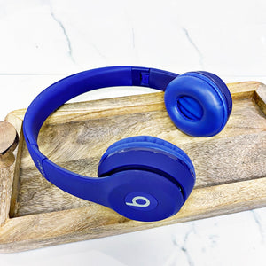 "READY TO SHIP * Special Edition Blue ""Beats"" Inspired Headphones"