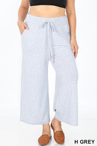 Cropped Lounge Pants with Pockets