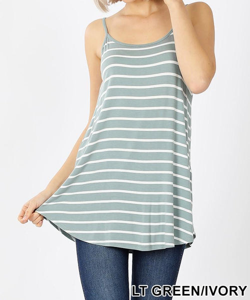 Plus Reversible Striped Cami Tank