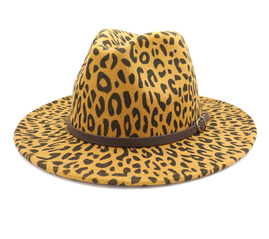 READY TO SHIP * Leopard Fedora Hats // 4 Colors