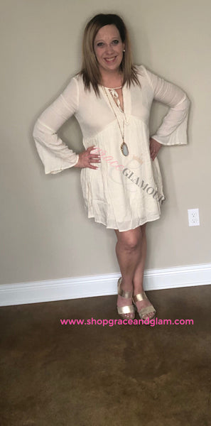 Ivory Love Summer Dress - Grace and Glamour LLC