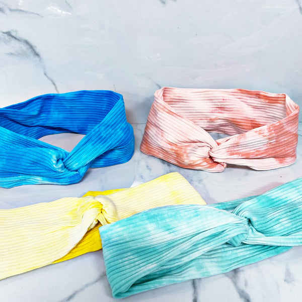 READY TO SHIP * Textured Tie Dye Yoga Headbands // 12 Colors