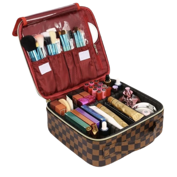 READY TO SHIP * Travel Zip Adjustable Makeup Bag