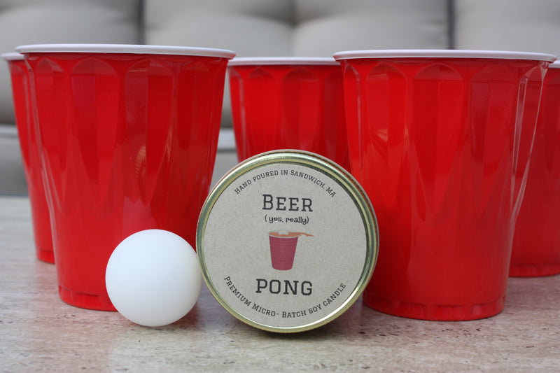 Beer Pong 8 oz - Cape Cod Candleman