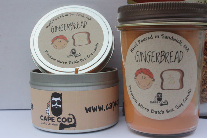 Gingerbread Scented 8 oz Soy Candle