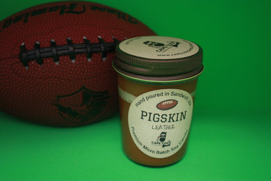 Pigskin Leather 8 oz. Soy Candle