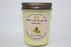 When life gives you lemons....  8 oz.  Limoncello scented Soy Candle
