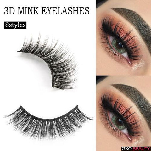 GXO BEAUTY 3D Mink Eyelashes 3D Eyelashe
