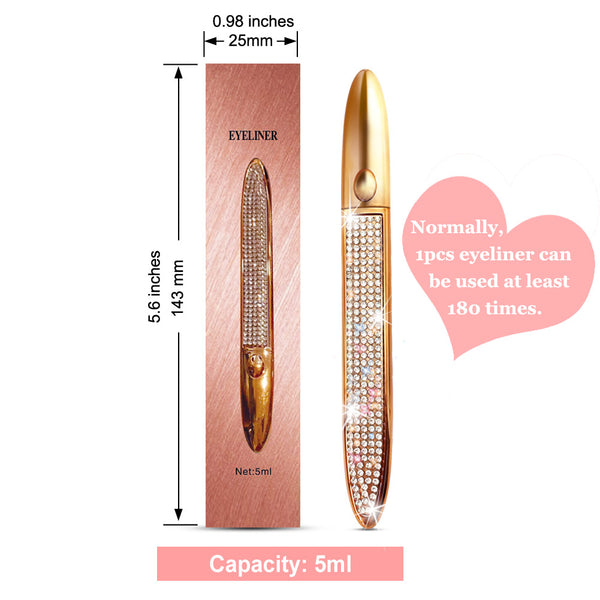 GXO beauty Waterproof Magic Eyeliner  | Double Capacity Quick-Drying and Long Lasting Liquid Light Glue Eyeliners