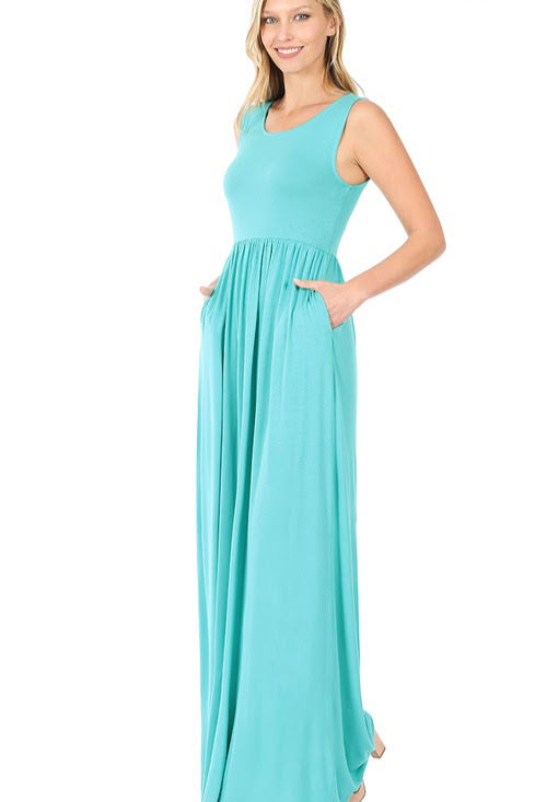 Sleeveless Maxi Dress | Ash Mint