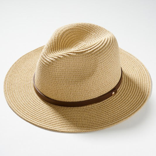 Straw Panama Sun Hat | Natural